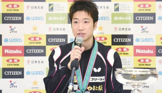 卓球・水谷隼はなぜサングラスなのか?全日本選手権優勝後の記者会見で引退表明